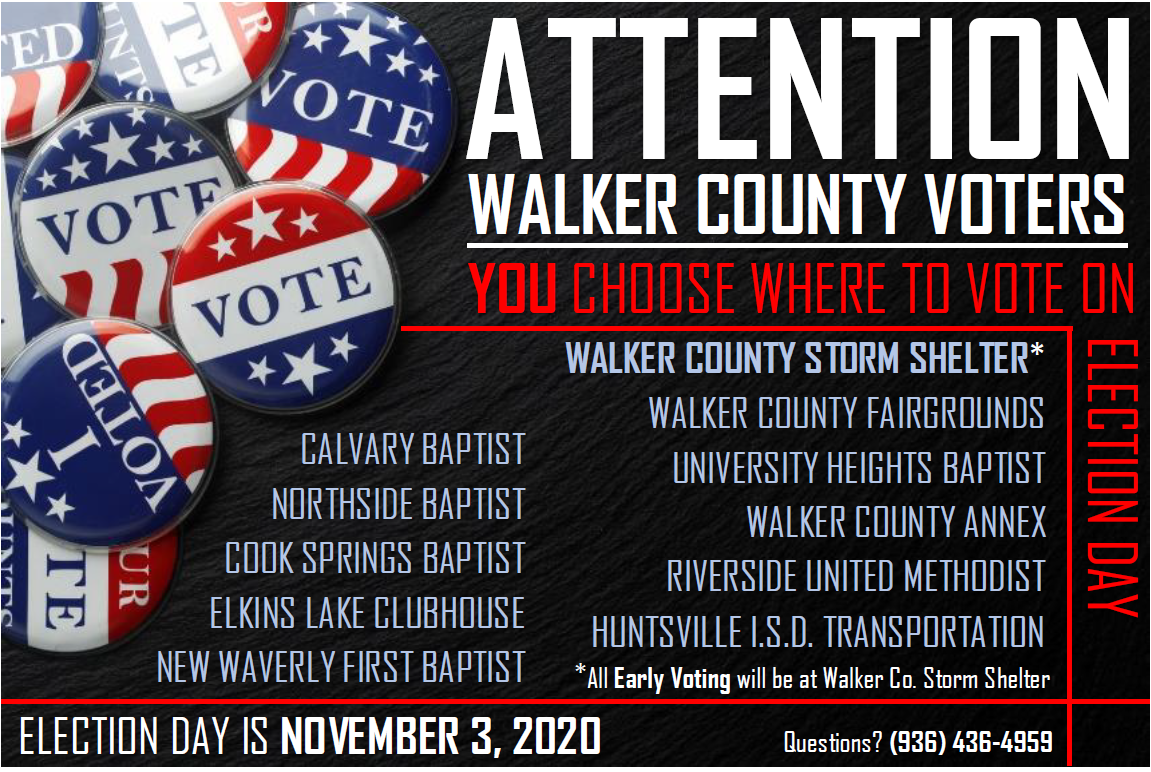 Picture of: Current Elections Walker County Tx